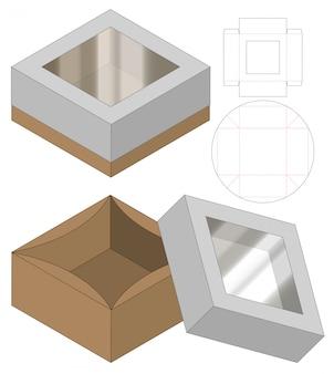 Design del modello fustellato di imballaggio della scatola. 3d