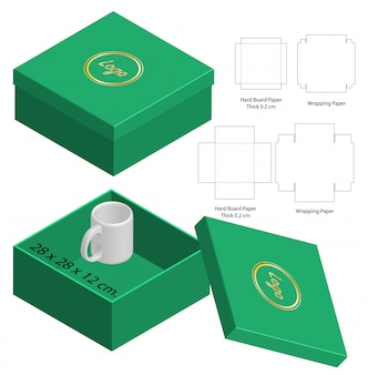 Design del modello fustellato di imballaggio della scatola