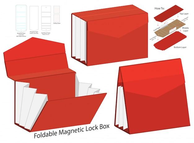 Design del modello fustellato di imballaggio della scatola.