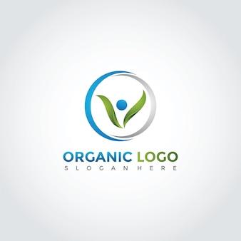 Design del modello logo organico e persone