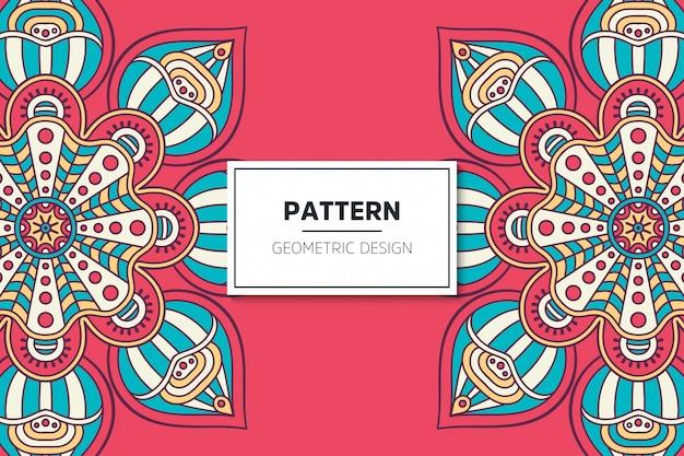 Design del modello mandala ornamentale di lusso