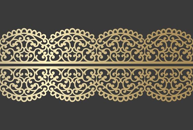 Design del pannello tagliato al laser. modello di bordo ornato vettoriale vintage per taglio laser, vetrate, incisione su vetro, sabbiatura, scultura in legno, cardmaking, inviti di nozze.