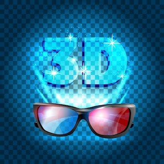 Design del poster cinema 3d.