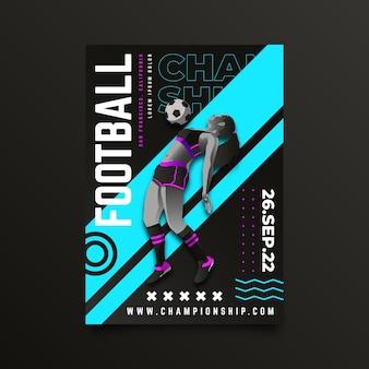 Design del poster del campionato di calcio