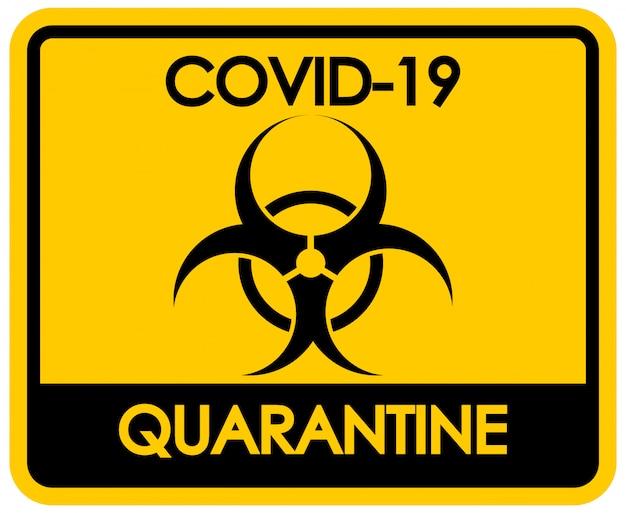 Design del poster per il tema del coronavirus con segno di rischio biologico
