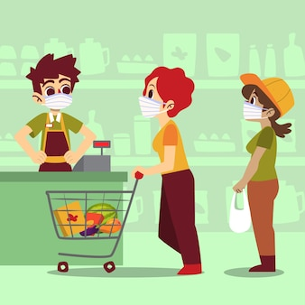 Design del supermercato coronavirus