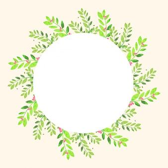 Design del telaio con fiori e foglie