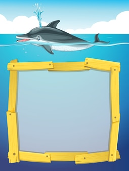 Design del telaio con nuoto dei delfini