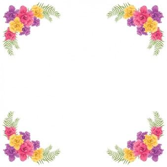 Design del telaio floreale