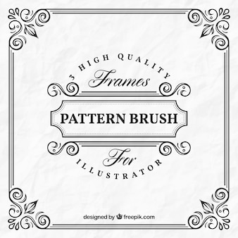 Design del telaio ornamentale