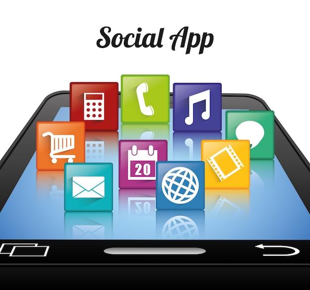 Design dell'app per dispositivi mobili.