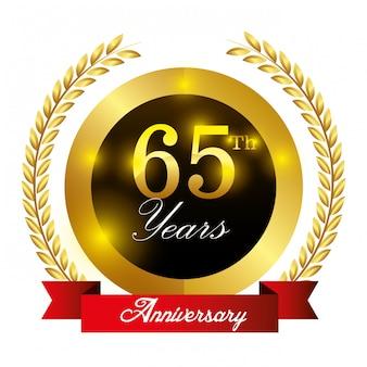 Design dell'etichetta anniversario.