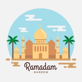 Design dell'evento del ramadan con taj mahal