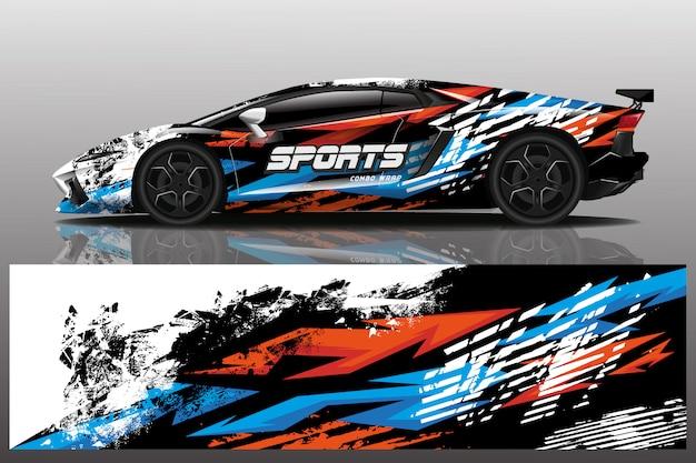 Design dell'involucro adesivo per auto sportive