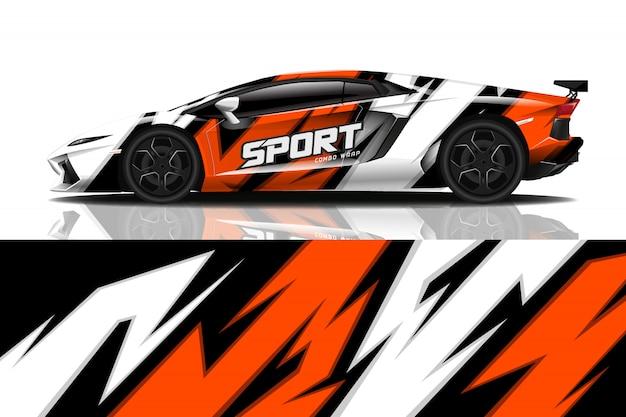 Design dell'involucro della decalcomania dell'automobile sportiva