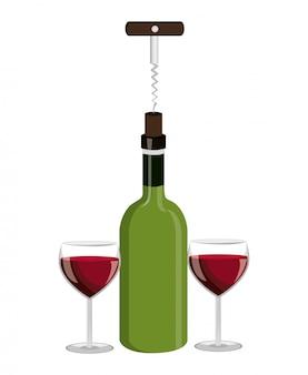 Design della bottiglia di vino.