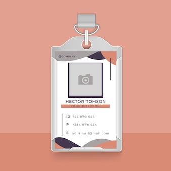 Design della carta d'identità aziendale