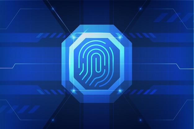 Design della carta da parati al neon dell'impronta digitale