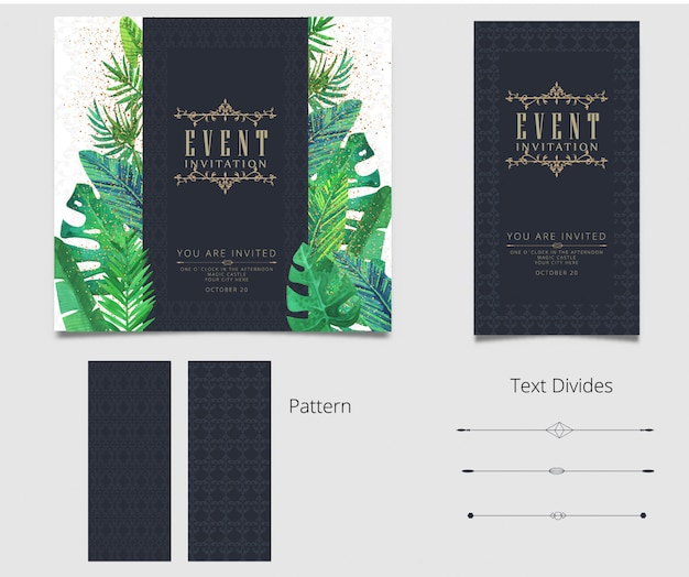 Design della carta invito modificabile