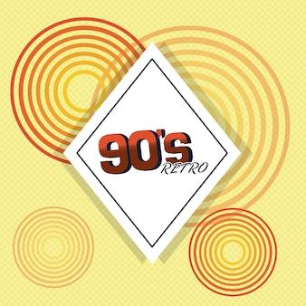 Design della carta retrò anni '90