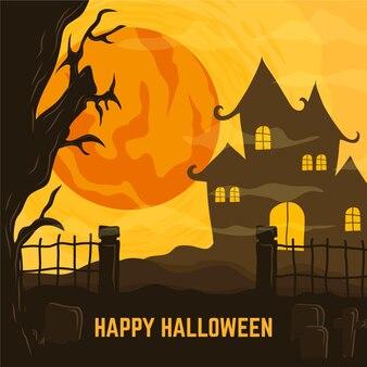 Design della casa di halloween