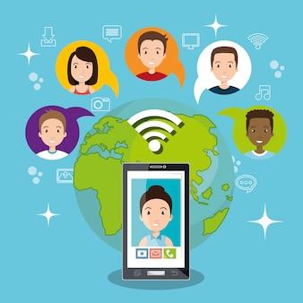Design della chat mobile