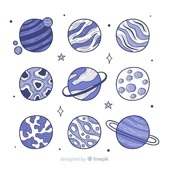 Design della collezione galaxy planet