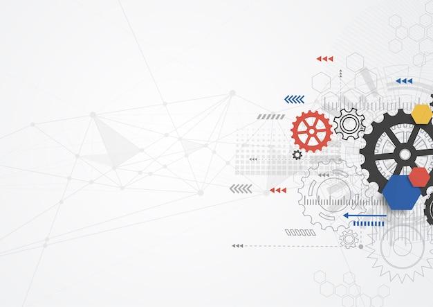 Design della comunicazione tecnologia astratta