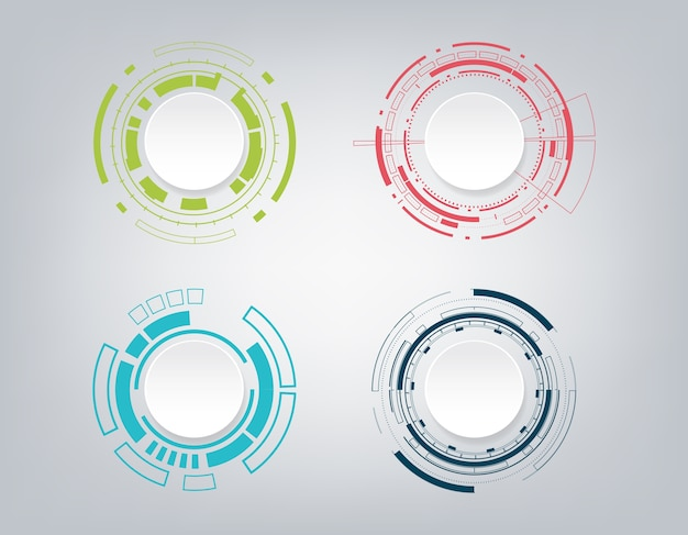 Design della comunicazione tecnologia astratta.