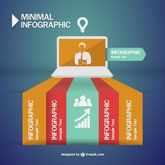 Design della comunicazione uomo d'affari infografica