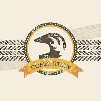 Design della concorrenza su sfondo rosa illustrazione vettoriale