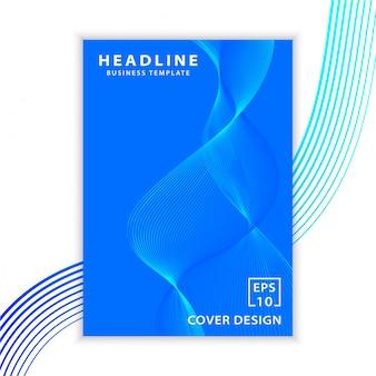 Design della copertina dell'onda minimale