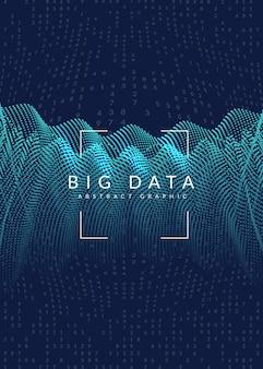 Design della copertina di visualizzazione. tecnologia per big data