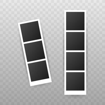Design della cornice. fotografia negativa realistica