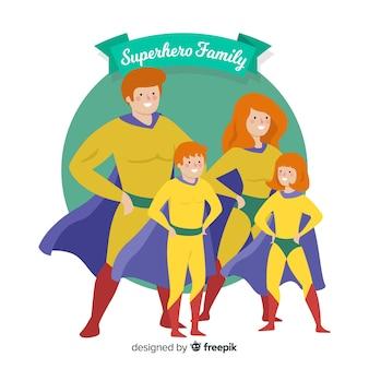 Design della famiglia supereroe