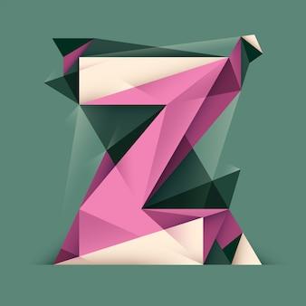 Design della lettera z.