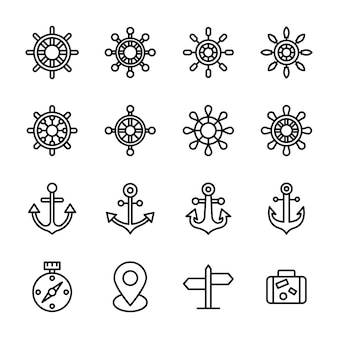 Design della linea di governo e neutrali della nave