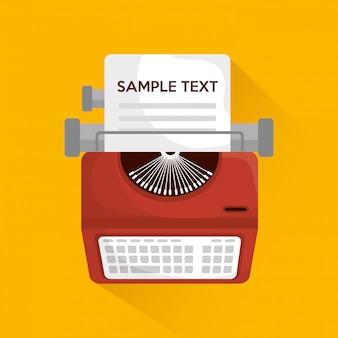 Design della macchina da scrivere