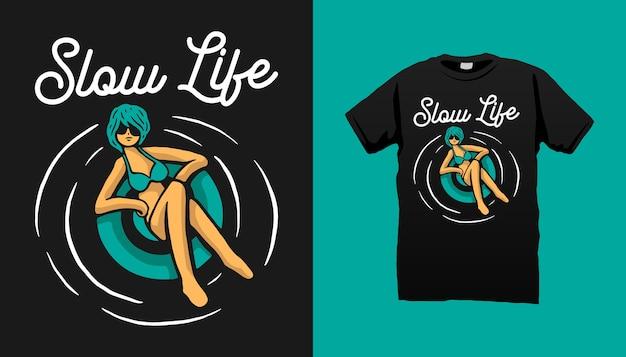 Design della maglietta per prendere il sole