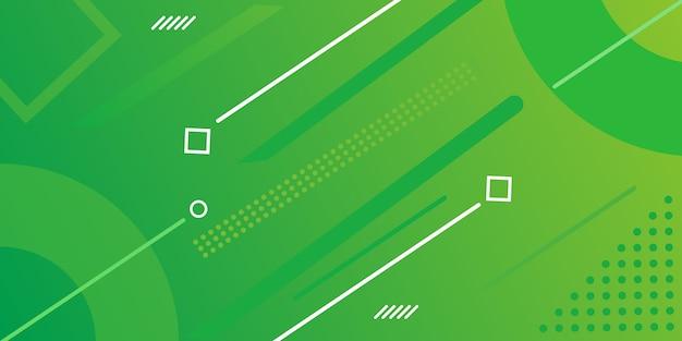 Design della pagina di destinazione con gradiente con elementi di memphis