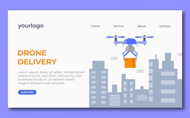 Design della pagina di destinazione della consegna dei droni
