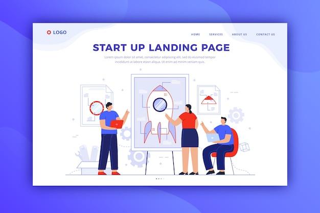 Design della pagina di destinazione di avvio per modello