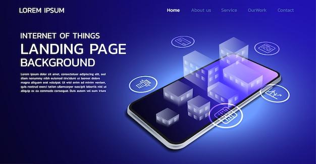 Design della pagina di destinazione di internet of things