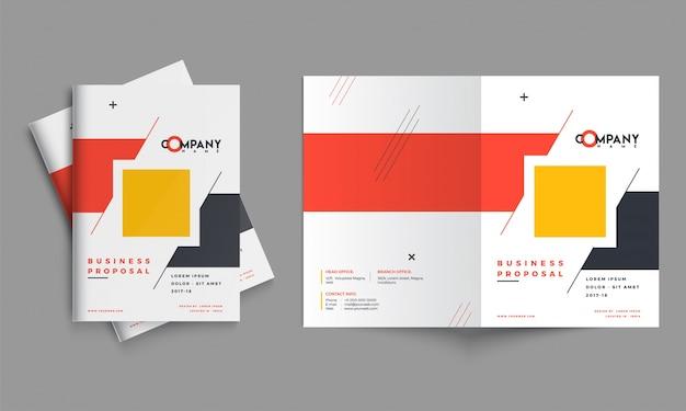 Design della proposta di business creativo, layout del modello aziendale