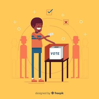 Design della scatola di elezione