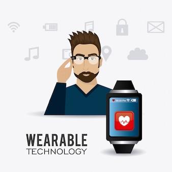 Design della tecnologia indossabile.