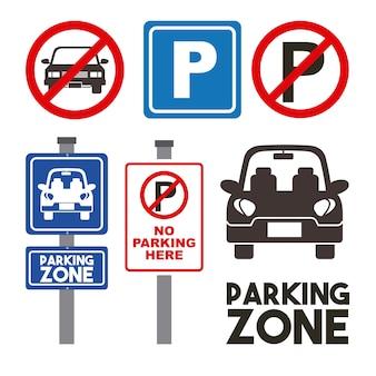 Design della zona di parcheggio