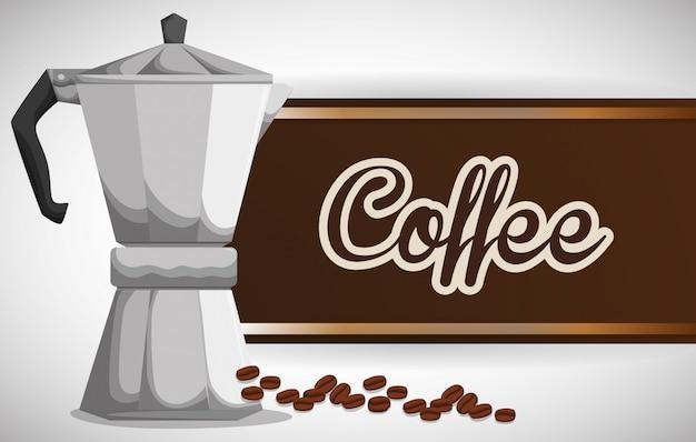 Design delle icone di cofee