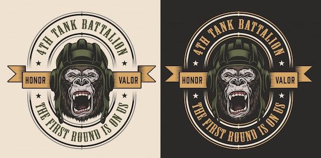 Design di abbigliamento con gorilla