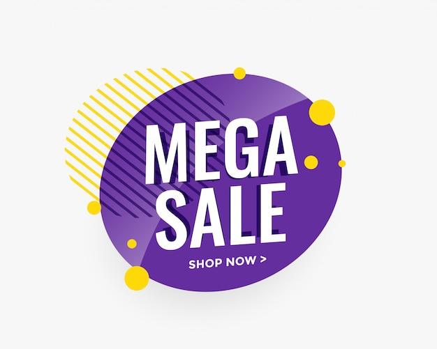 Design di banner circolare mega vendita